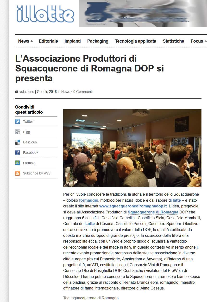 L'Associazione Produttori di Squacquerone di Romagna DOP si presenta