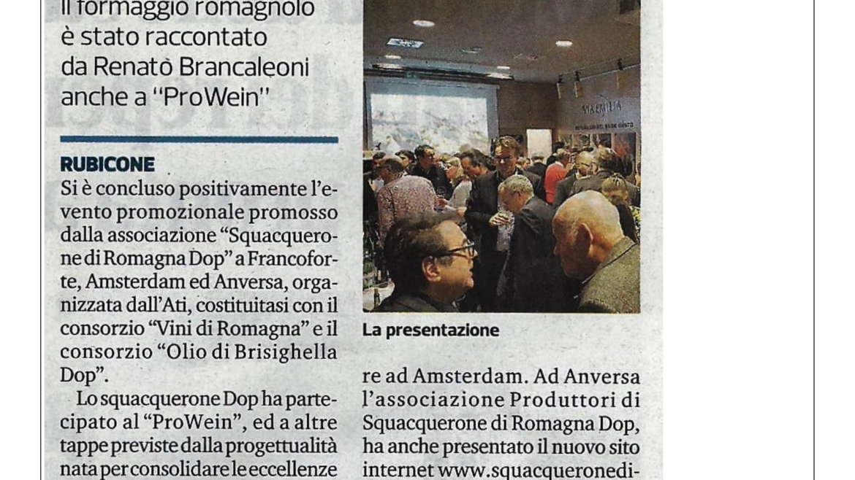 Lo Squacquerone DOP conquista Francoforte Amsterdam e Anversa